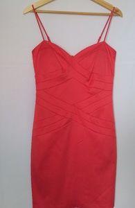 Bisou Bisou coral mini dress